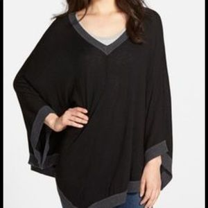 Splendid poncho pullover knit sweater